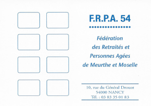 Bulletin d'adhésion de la FRPA