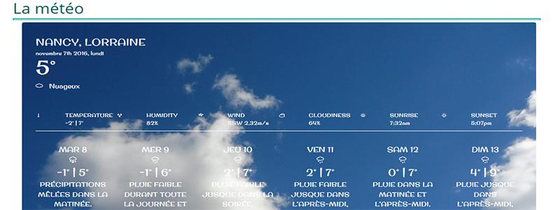 frpa 54 la météo sur votre site
